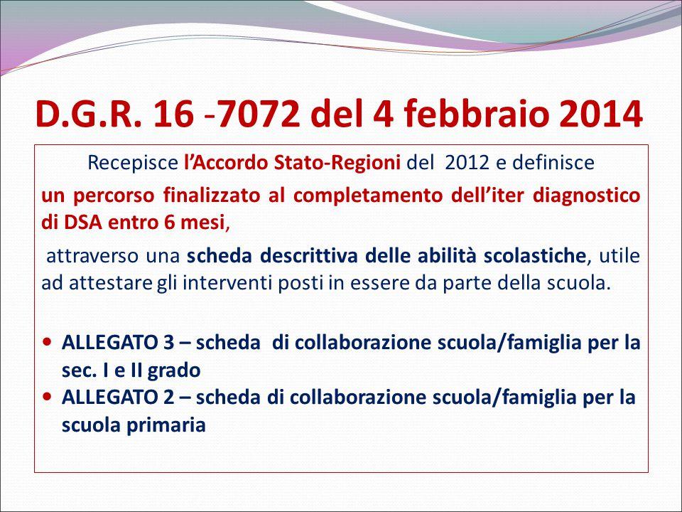 Recepisce l'Accordo Stato-Regioni del 2012 e definisce