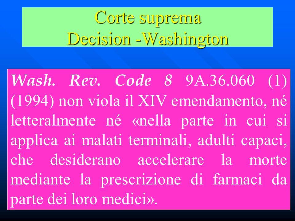 Corte suprema Decision -Washington