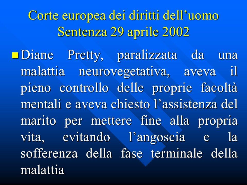 Corte europea dei diritti dell'uomo Sentenza 29 aprile 2002