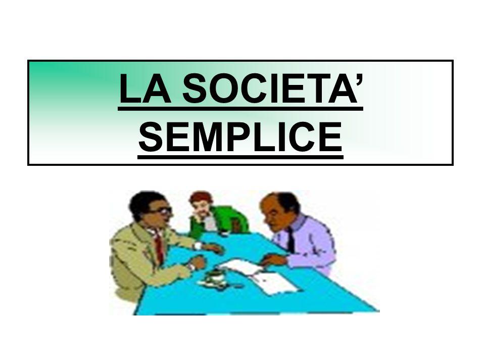 LA SOCIETA' SEMPLICE