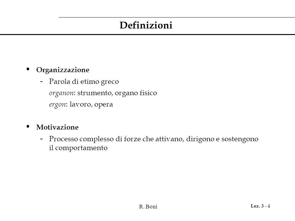 Definizioni Organizzazione Parola di etimo greco
