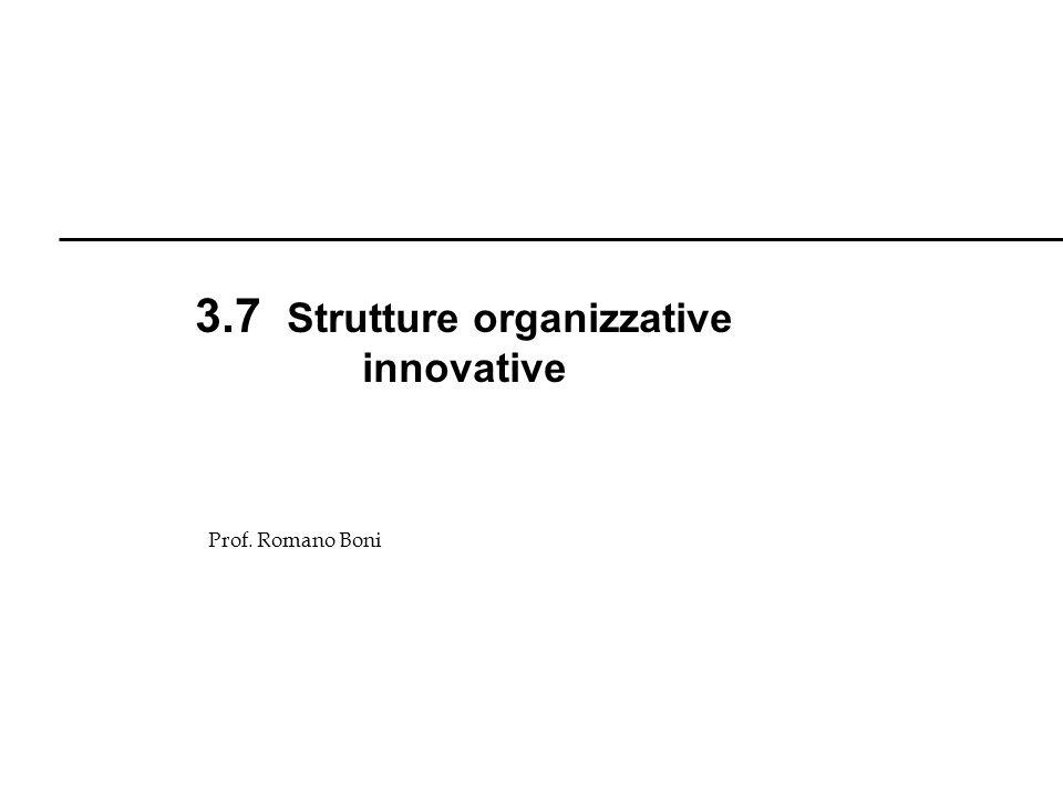 3.7 Strutture organizzative innovative