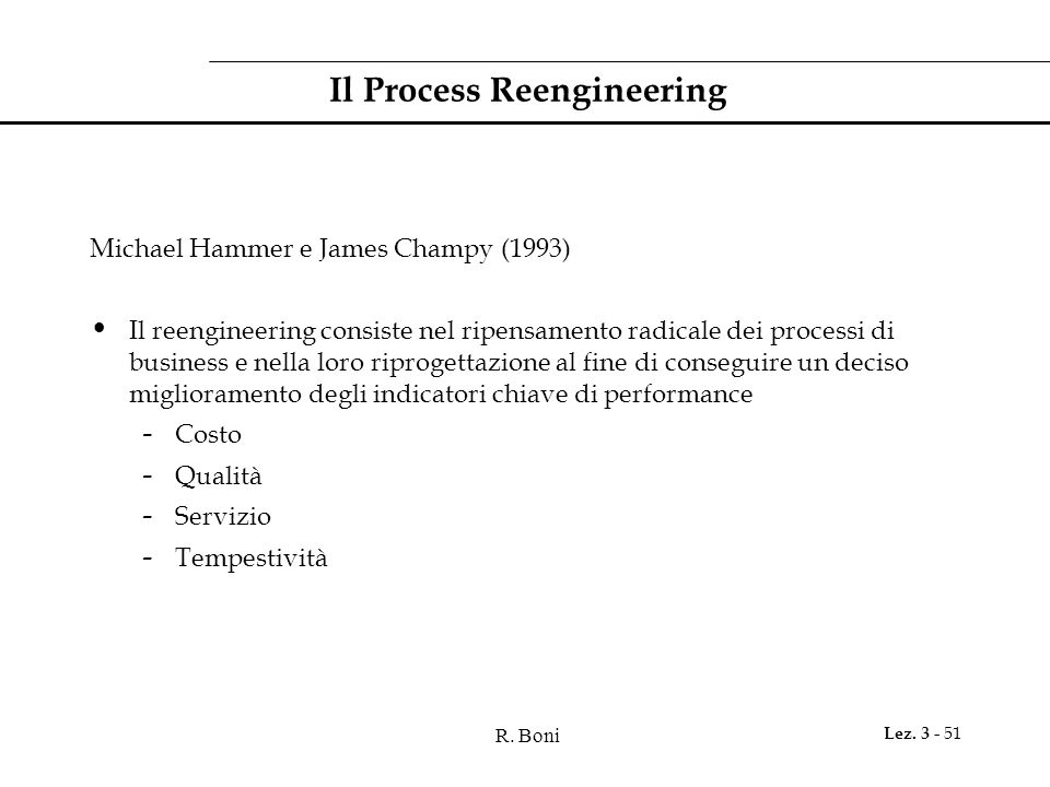 Il Process Reengineering