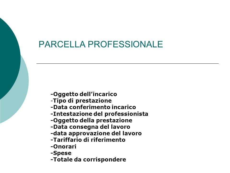 PARCELLA PROFESSIONALE