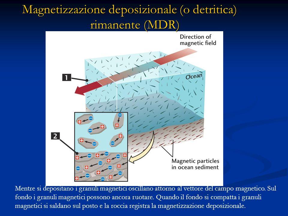 Magnetizzazione deposizionale (o detritica) rimanente (MDR)