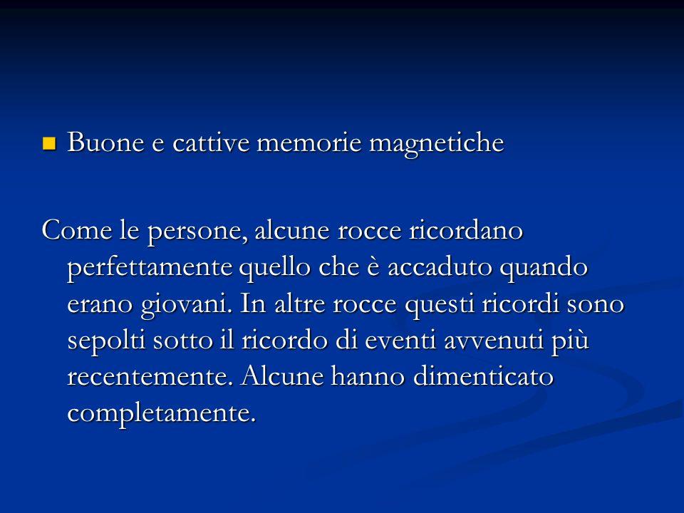 Buone e cattive memorie magnetiche