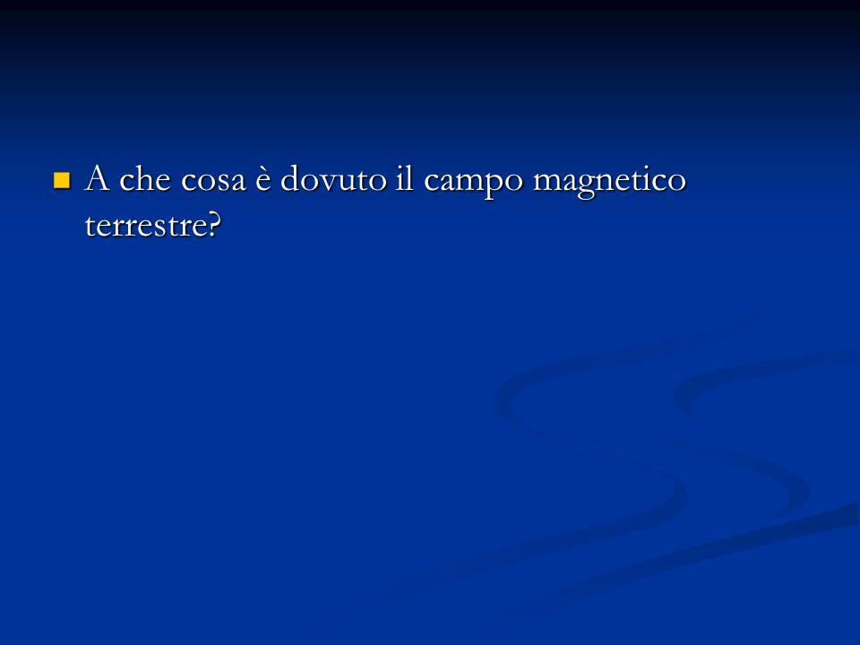 A che cosa è dovuto il campo magnetico terrestre