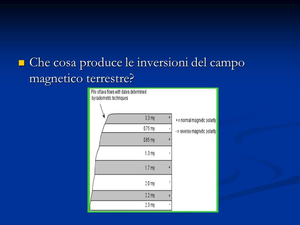 Che cosa produce le inversioni del campo magnetico terrestre