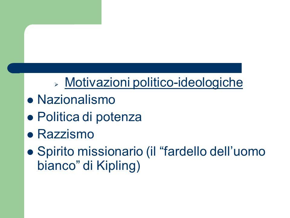 Motivazioni politico-ideologiche