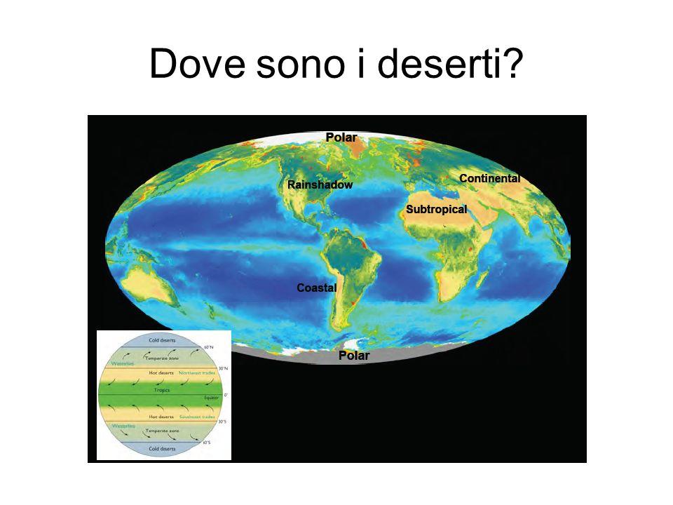 Dove sono i deserti