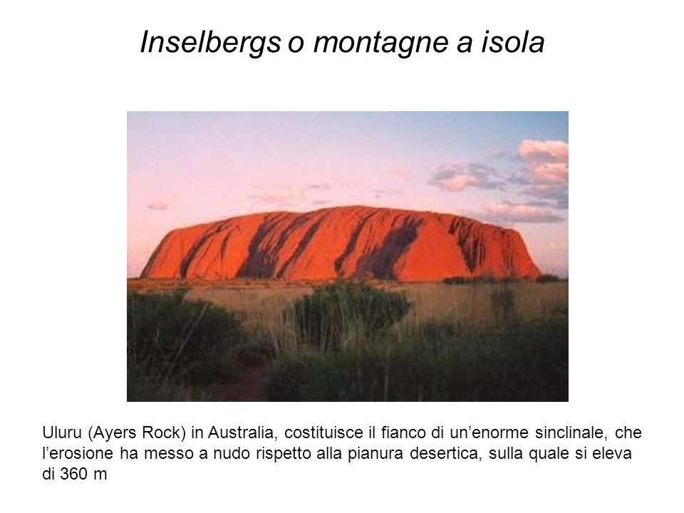 Inselbergs o montagne a isola