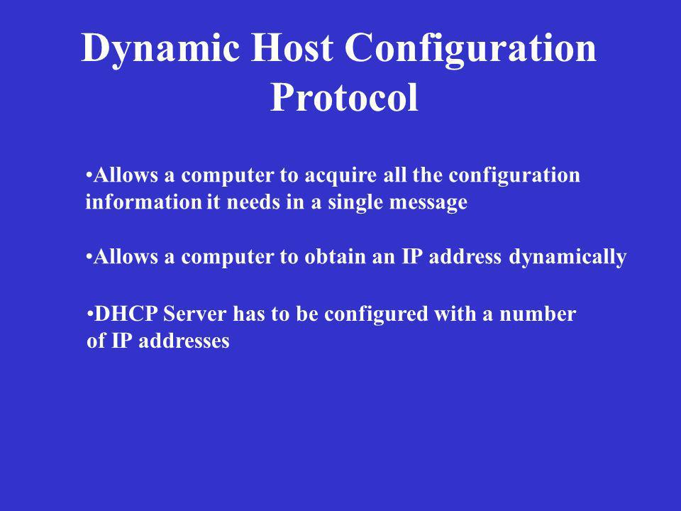 Dynamic Host Configuration