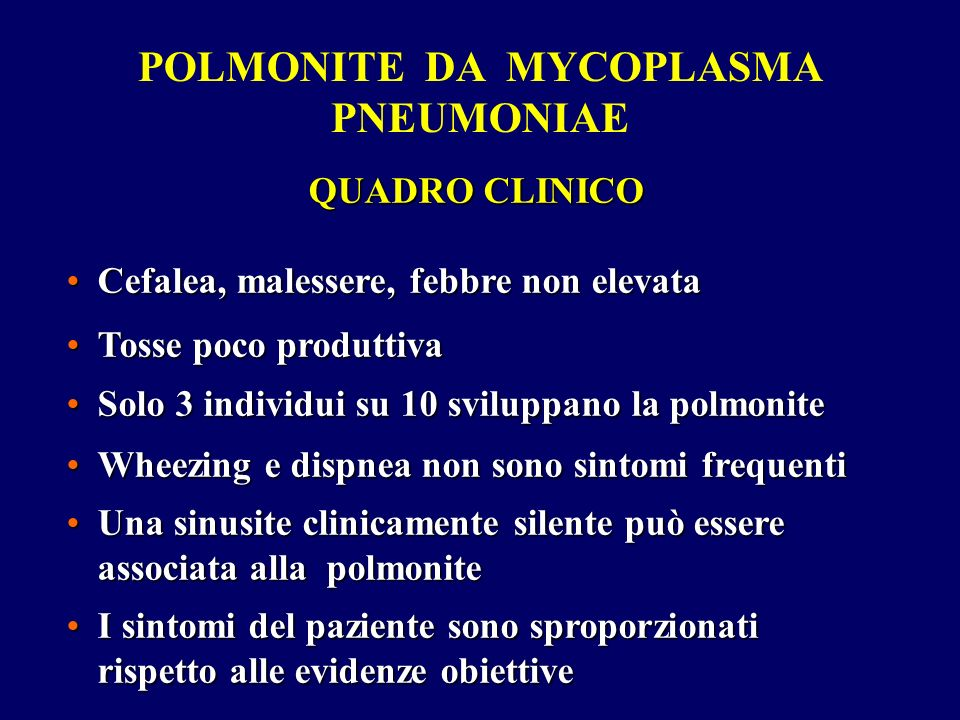 POLMONITE DA MYCOPLASMA PNEUMONIAE