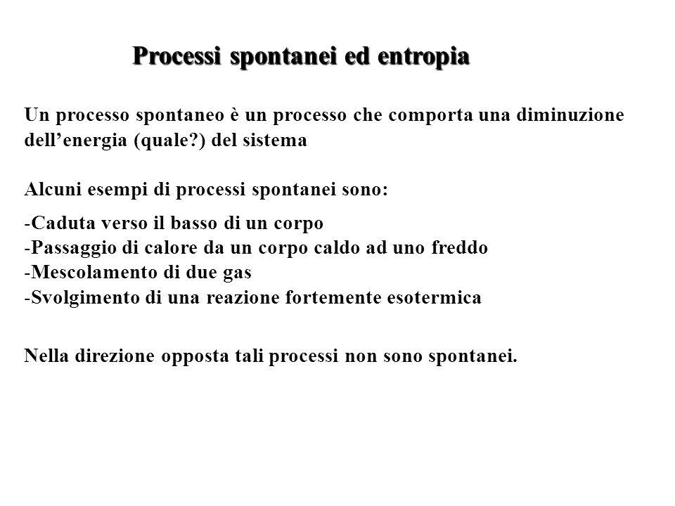 Processi spontanei ed entropia