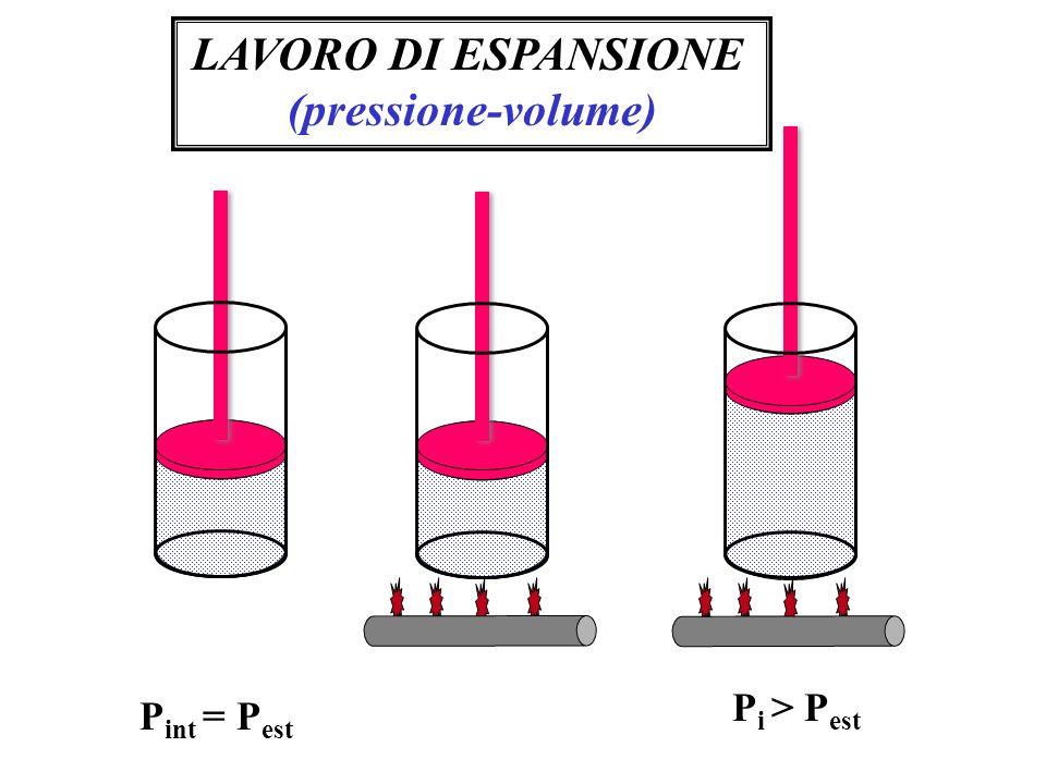 LAVORO DI ESPANSIONE (pressione-volume)