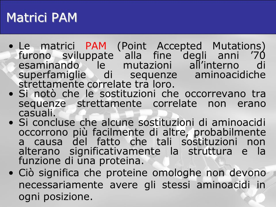 Matrici PAM