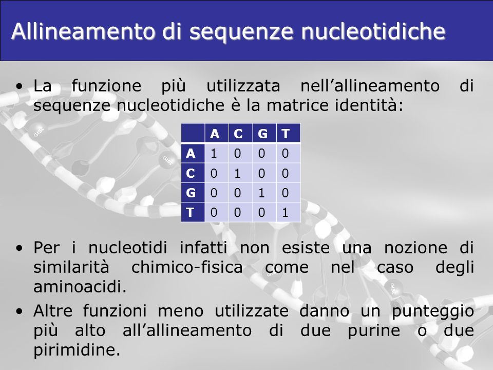 Allineamento di sequenze nucleotidiche
