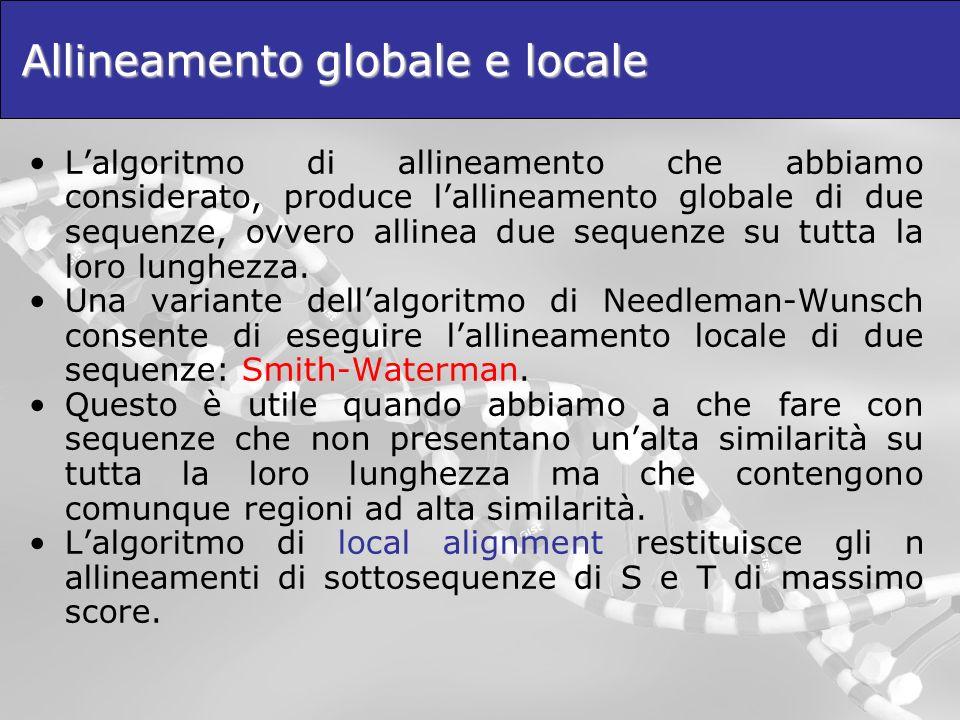 Allineamento globale e locale