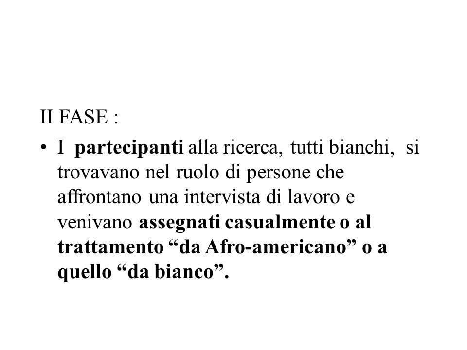II FASE :