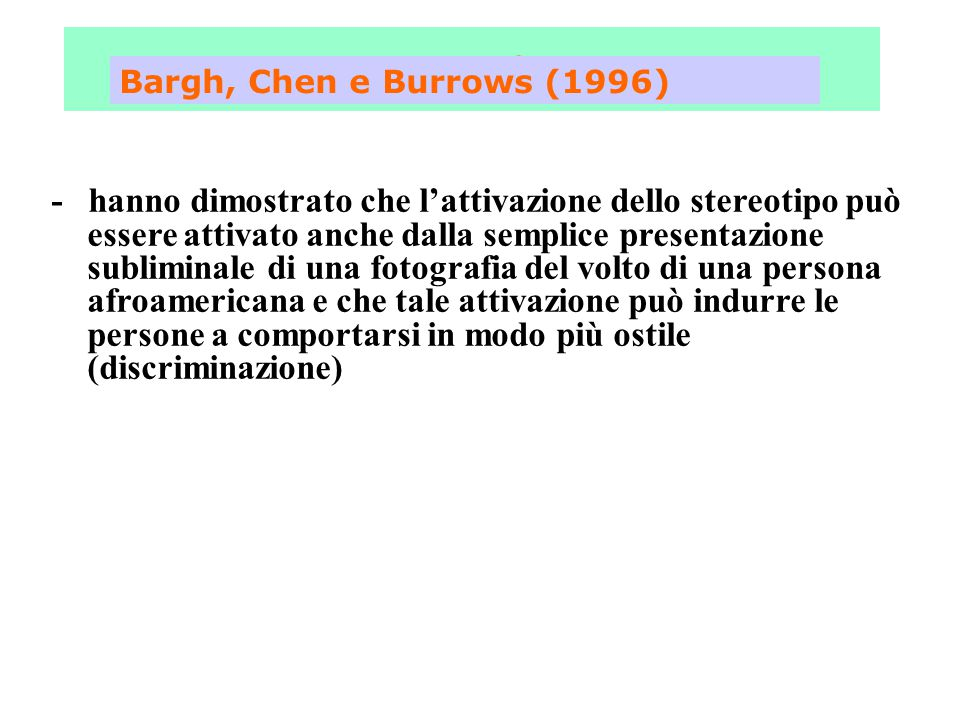 Fase 3 Bargh, Chen e Burrows (1996)