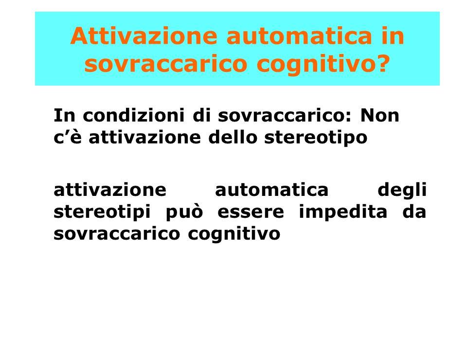 Attivazione automatica in sovraccarico cognitivo