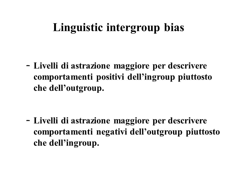 Linguistic intergroup bias
