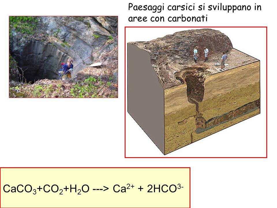 CaCO3+CO2+H2O ---> Ca2+ + 2HCO3-