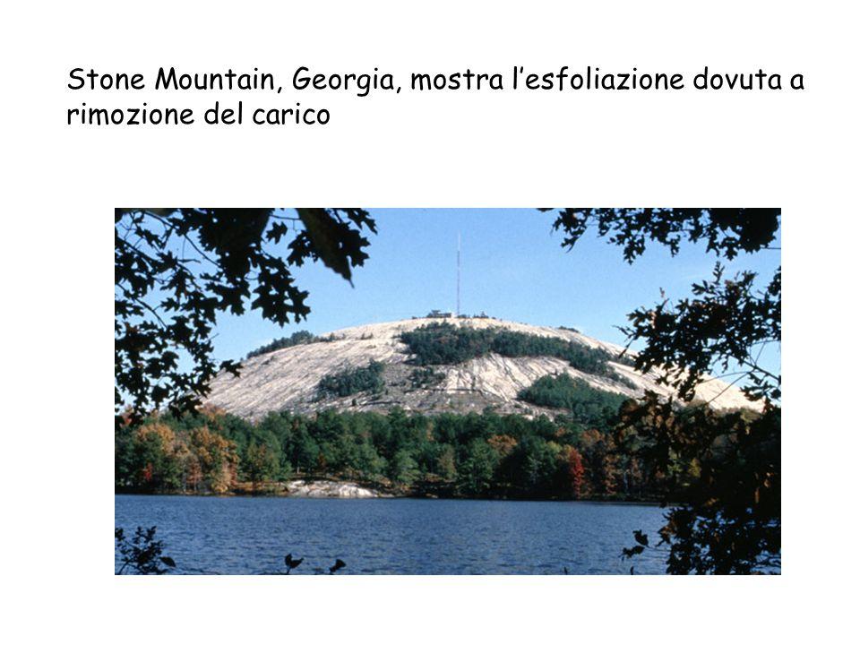 Stone Mountain, Georgia, mostra l'esfoliazione dovuta a rimozione del carico