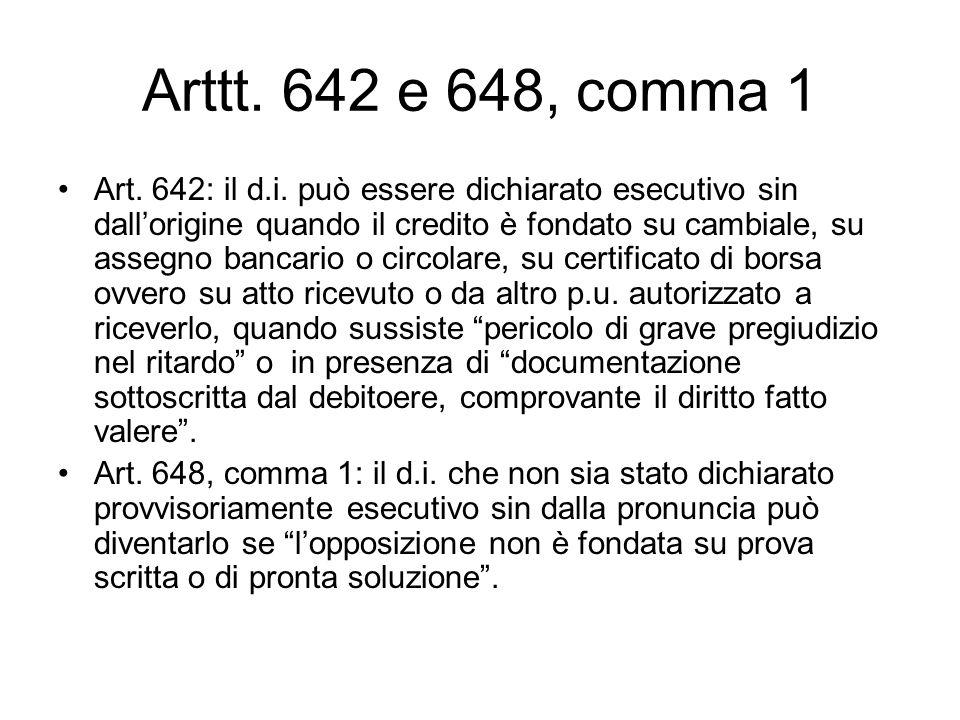 Arttt. 642 e 648, comma 1