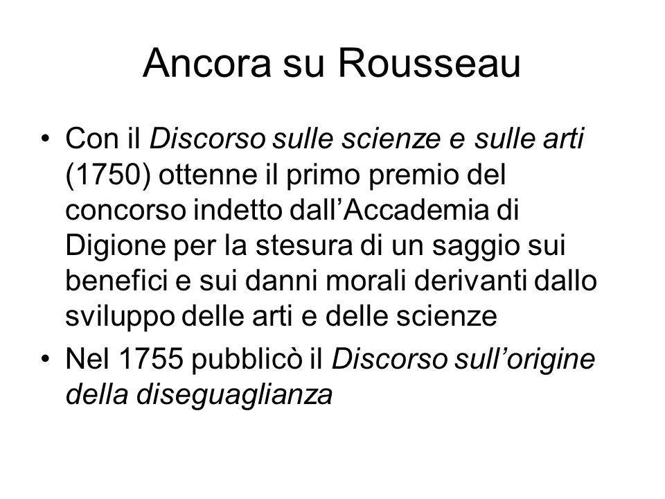 Ancora su Rousseau