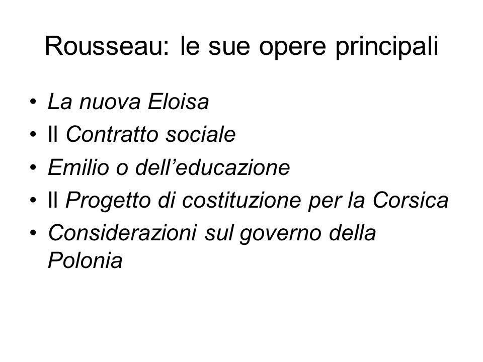 Rousseau: le sue opere principali