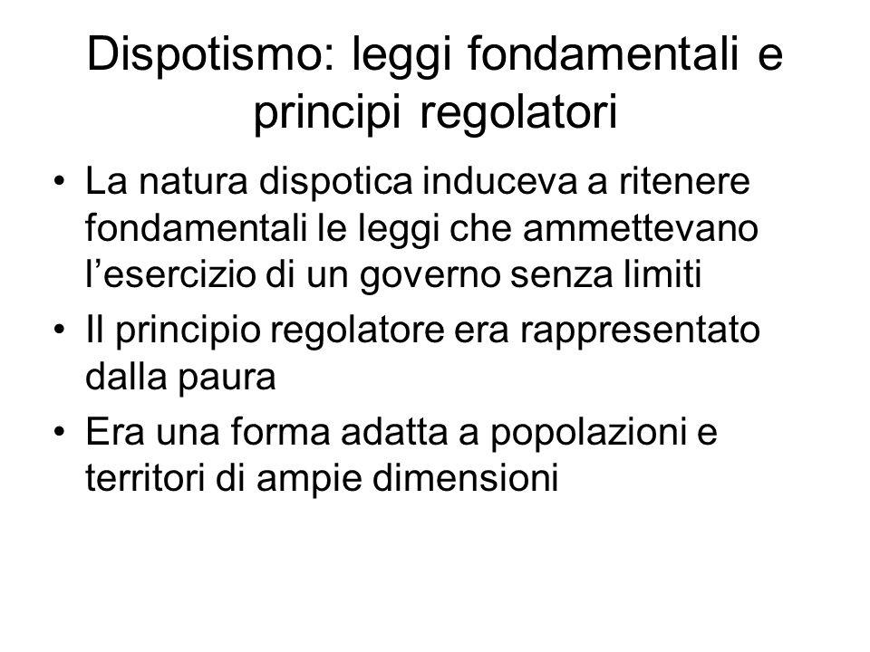 Dispotismo: leggi fondamentali e principi regolatori