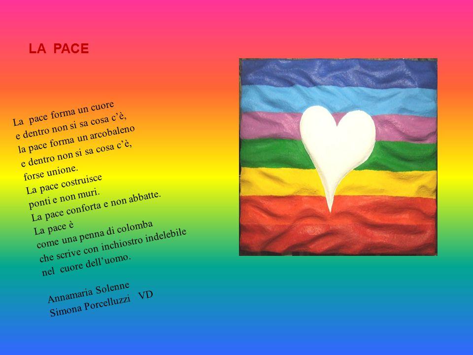 LA PACE La pace forma un cuore e dentro non si sa cosa c'è,