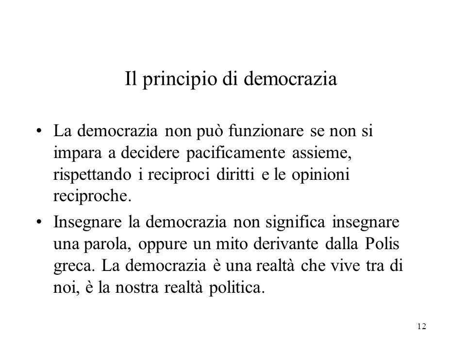 Il principio di democrazia