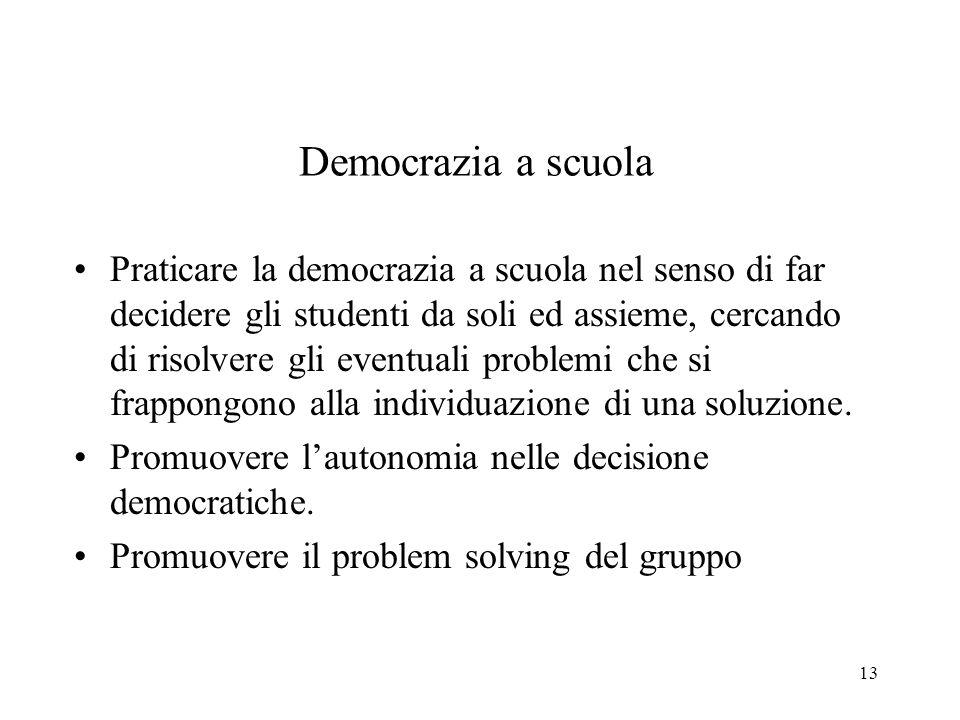 Democrazia a scuola
