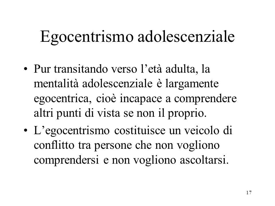 Egocentrismo adolescenziale