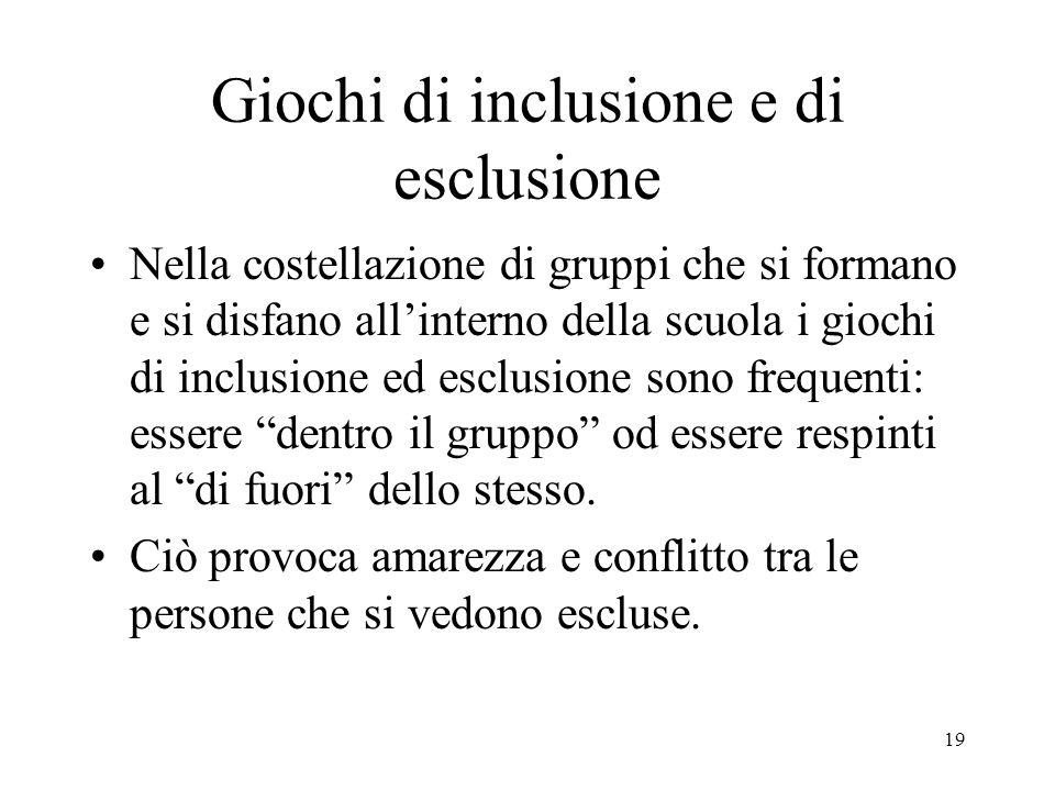 Giochi di inclusione e di esclusione