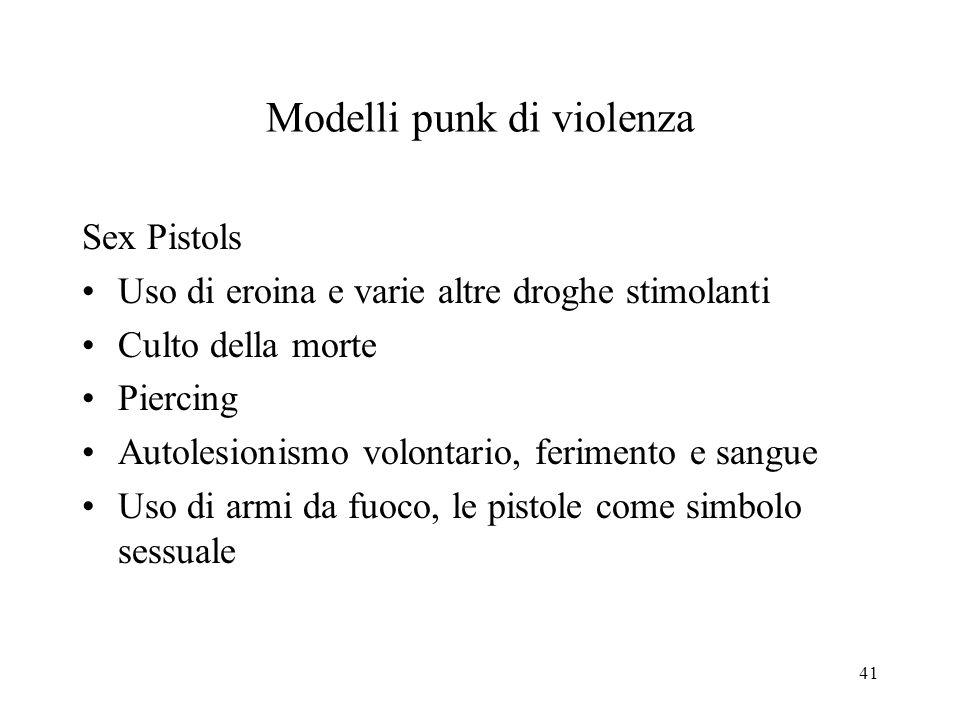 Modelli punk di violenza