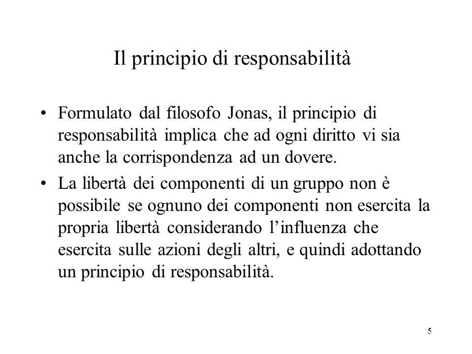 Il principio di responsabilità