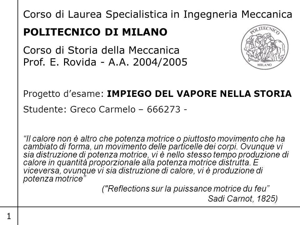 Corso di Laurea Specialistica in Ingegneria Meccanica