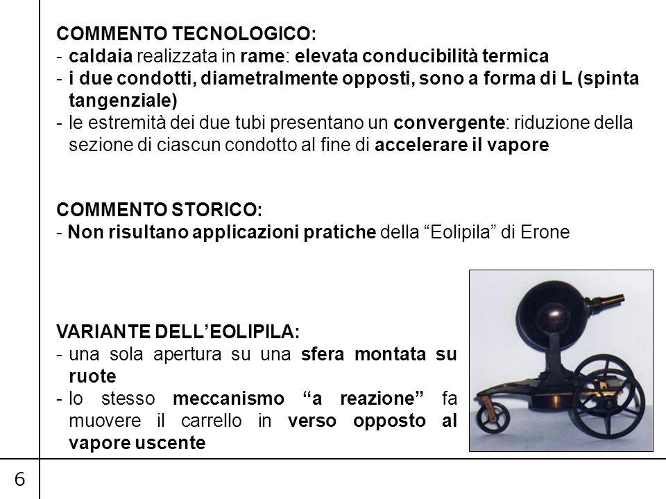 COMMENTO TECNOLOGICO: