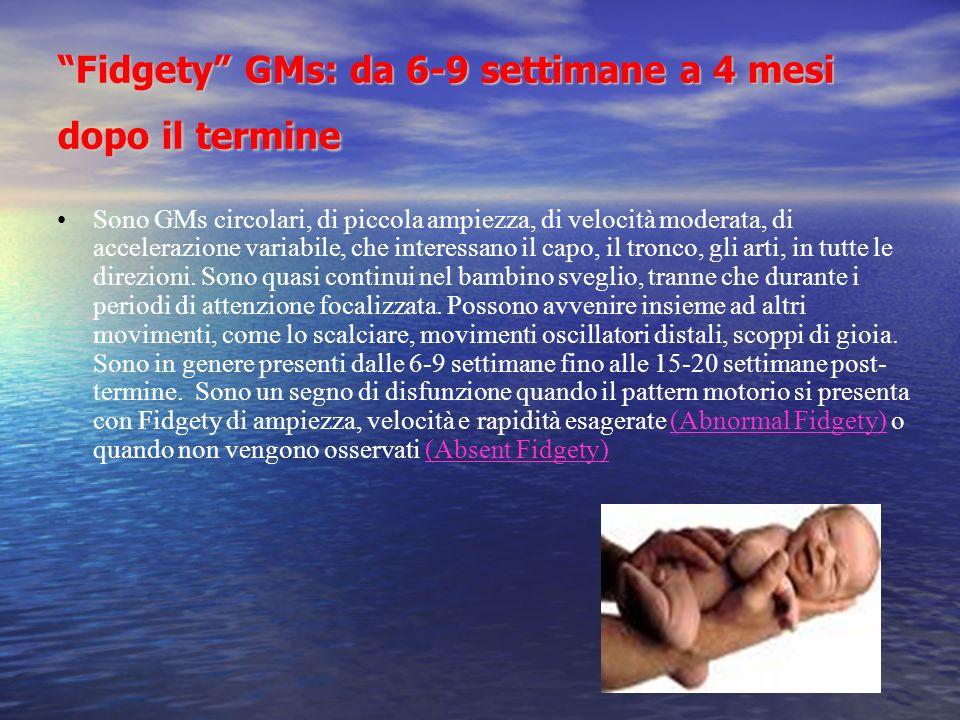 Fidgety GMs: da 6-9 settimane a 4 mesi dopo il termine