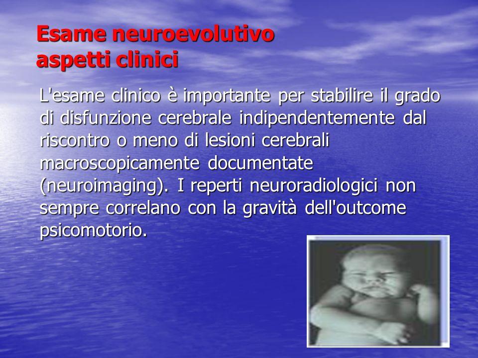 Esame neuroevolutivo aspetti clinici