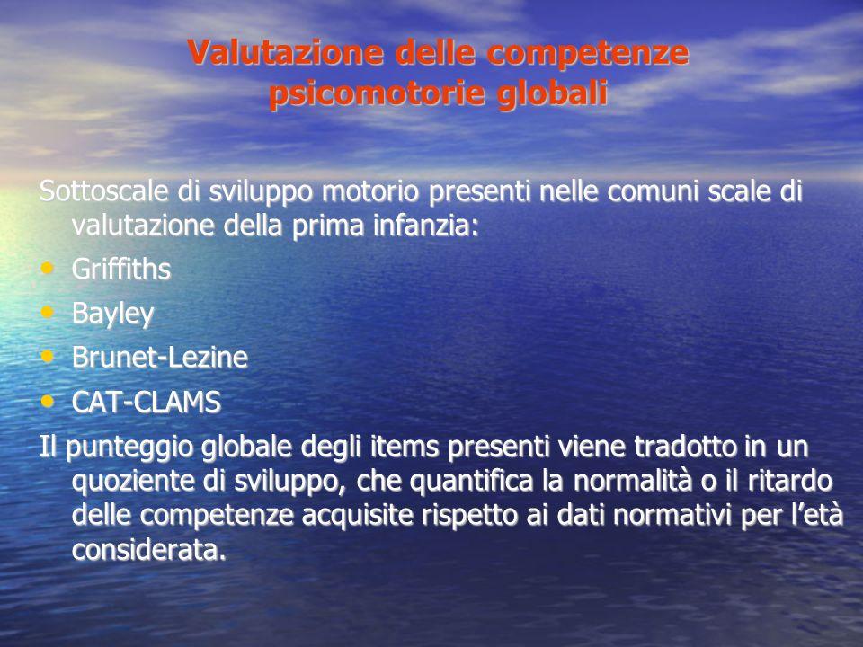 Valutazione delle competenze psicomotorie globali