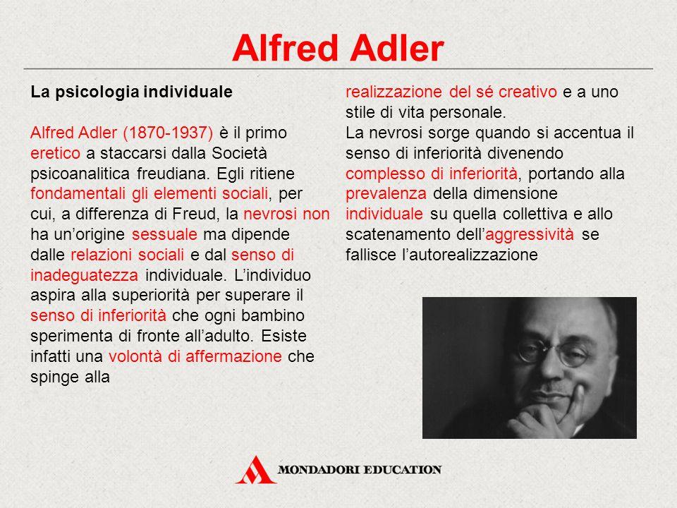 Alfred Adler La psicologia individuale