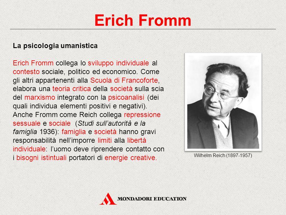 Erich Fromm La psicologia umanistica