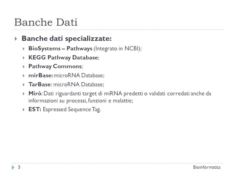 Banche Dati Banche dati specializzate: