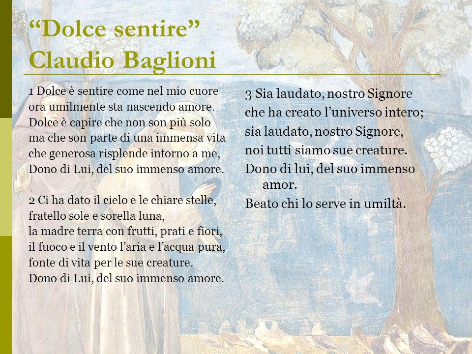 Dolce sentire Claudio Baglioni