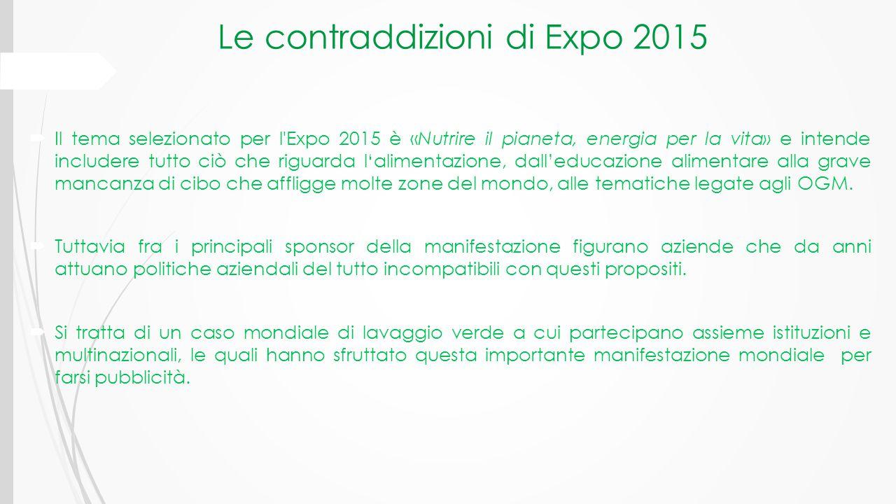 Le contraddizioni di Expo 2015