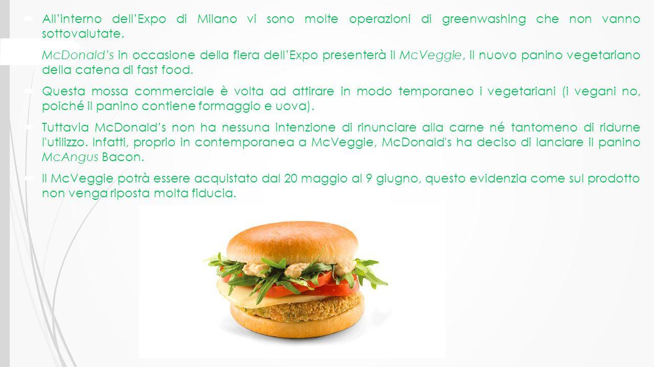 All'interno dell'Expo di Milano vi sono molte operazioni di greenwashing che non vanno sottovalutate.